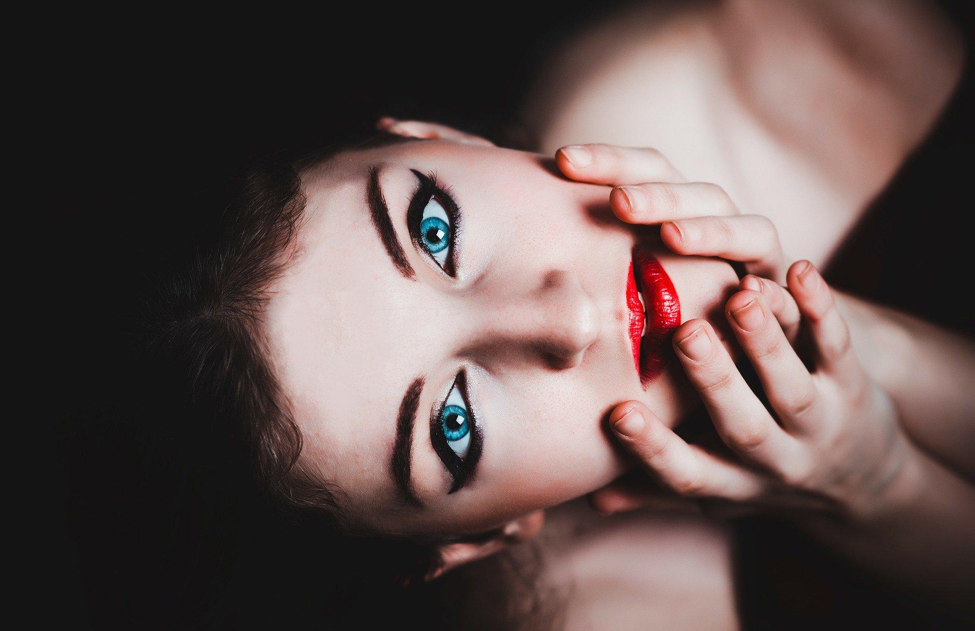 make-up modelka